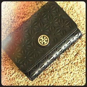 Tory Burch Black foldable wallet